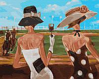 Картина по номерам Brushme Леди на скачках 40х50 см GX29720, КОД: 1318204