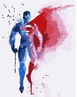 Картина по номерам Brushme Супермен Акварель 40х50 см GEX5679, КОД: 1318754