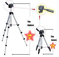 Трехсекционный профессиональный алюминиевый штатив для фото и видео камер