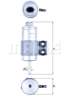 Топливный фильтр MORRIS MINI / HONDA ACCORD VI / HONDA ACCORD VI купе (CG) 1961-2003 г.