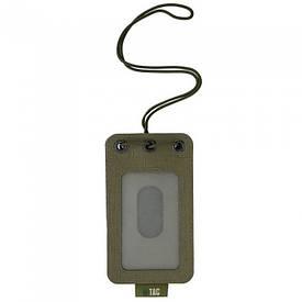 M-Tac бэйдж с прозрачной панелью Ranger Green