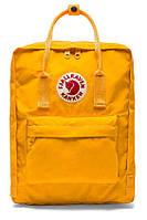 Стильный рюкзак канкен, сумка Fjallraven Kanken, для прогулок и спорта Желтый