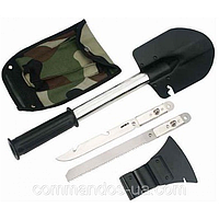 Многофункциональный набор - туристический топор, лопата, пила, штык-нож, молоток, открывалка, гвоздодер