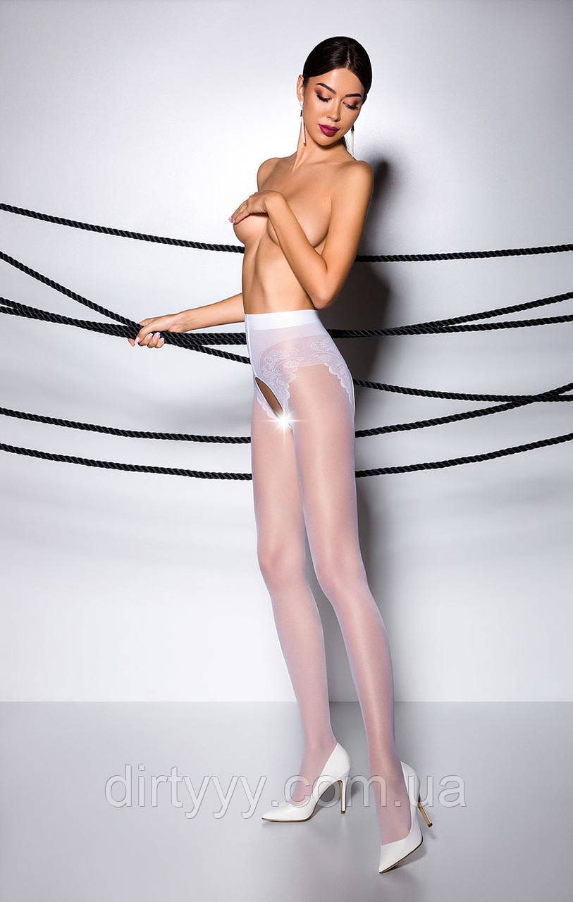 Эротические колготки TIOPEN 006 bianco (30 den) - Passion, цвет: белый