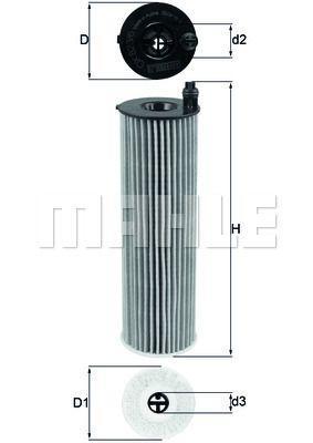 Масляний фільтр MERCEDES-BENZ GLE (W167) / MERCEDES-BENZ G-CLASS (W463) 2013-2019 р.
