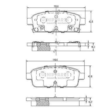 Тормозные колодки к-кт. CHEVROLET AVEO седан (T300) / OPEL CASCADA (W13) 2009-2015 г.