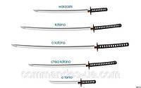 Японский меч катана, оригинальный размер