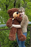 """Плюшевый медведь """"Нестор"""" Шоколадный 100 см"""