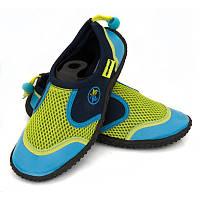 Аквашузы детские Aqua Speed 14Е 24 Салатовые с голубым aqs158, КОД: 961466