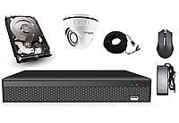 Элитный комплект видеонаблюдения Longse 4M1V c 1 камерой 4 Мп + HDD 250, КОД: 146775