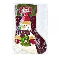 "Новогодний носок для подарков ""Снеговичок"" C30447"
