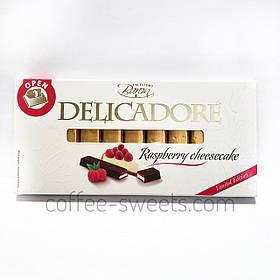 Шоколад молочный «Delicadore» Excellent Baron, Raspberry cheesecake (малина), 200 г.