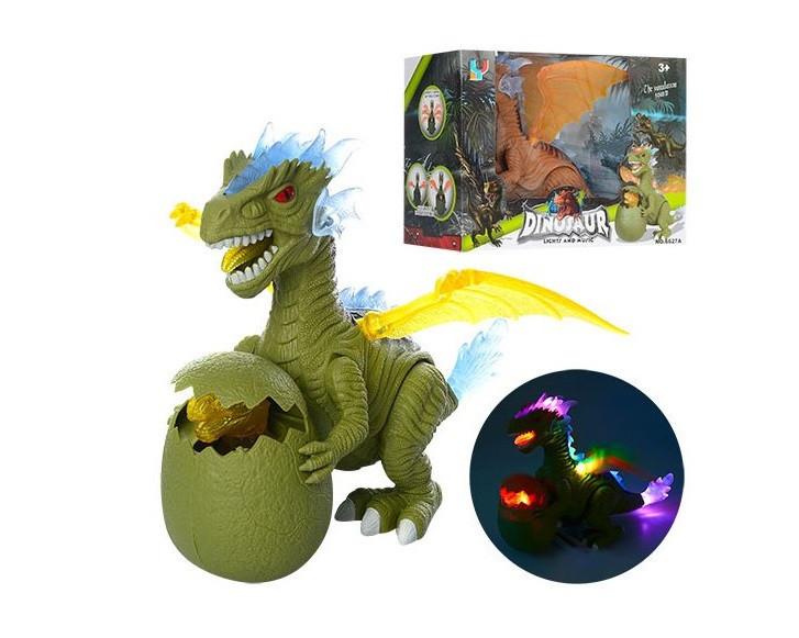 Динозавр на батарейке 32 см ходит, звук, свет