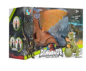Динозавр на батарейке 32 см ходит, звук, свет, фото 2
