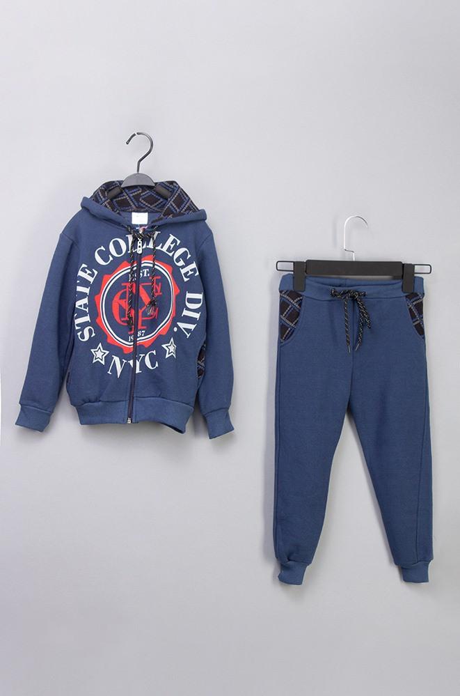 Спорт костюм флис мальчик STATE COLLEGE синий 4010