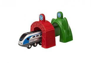 BRIO World Smart Tech Поезд с управляющими тоннелями 33834