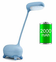 Детская настольная LED лампа NOUS S4 Blue с аккумулятором