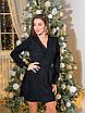 Красивое платье на запах с поясом из люрекса, размер универсальный 42-46, серебро, электрик, черный, фото 9