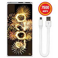 Новогодняя универсальная мобильная батарея 2020, 7500 мАч (E189-46)