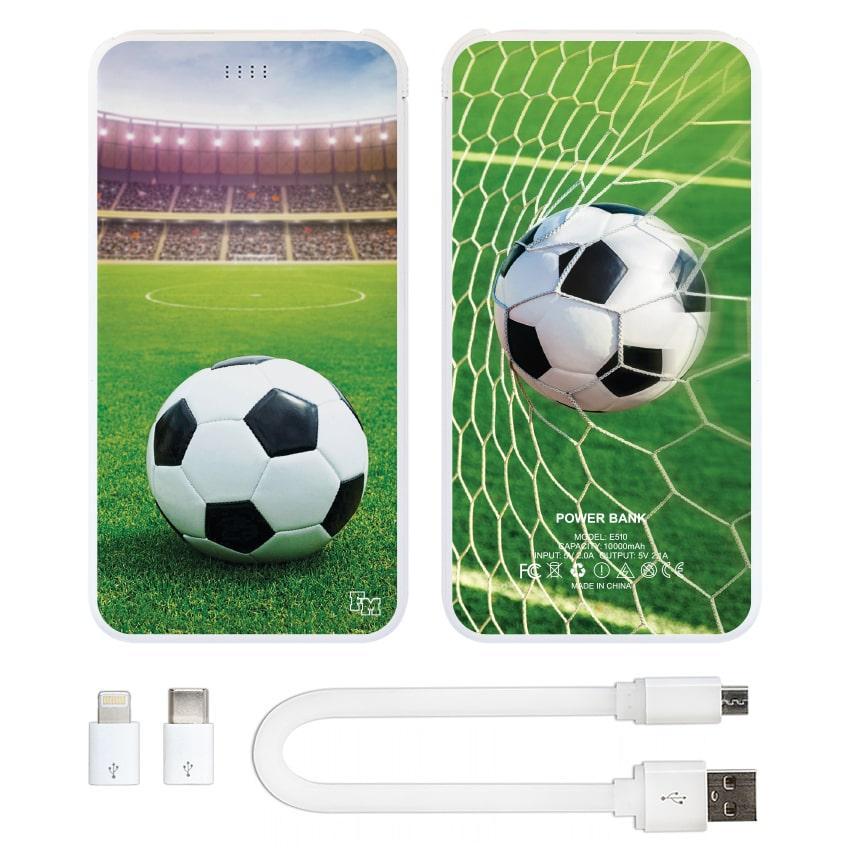 Внешнее зарядное устройство Футбол, 10000 мАч (E510-14)