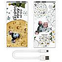 Портативная мобильная батарея Новогодний сыр, 7500 мАч (E189-45), фото 4