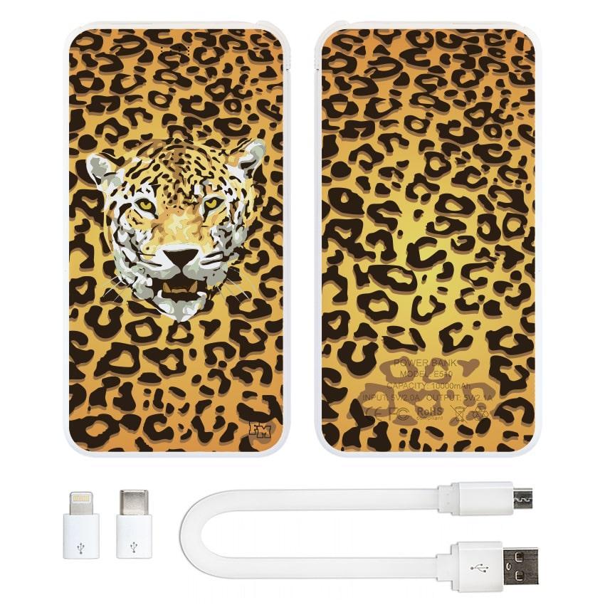 Повербанк с изображением Леопард, 10000 мАч (E510-19)
