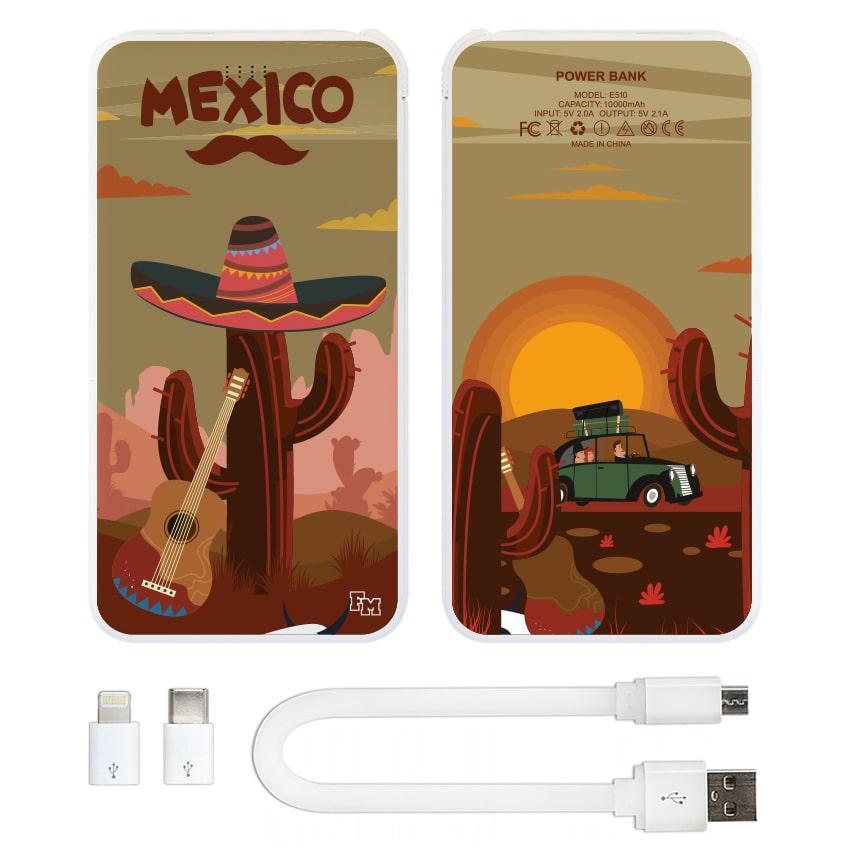 Павер банк Мексиканский кактус, 10000 мАч (E510-25)