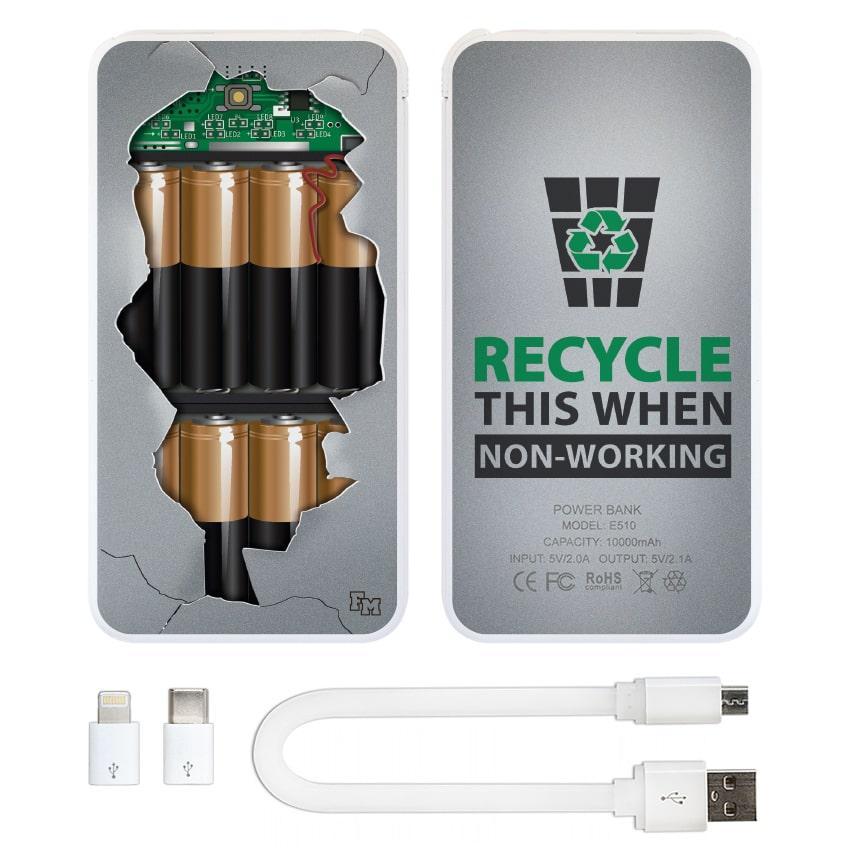 Дополнительный мобильный аккумулятор Внутри, 10000 мАч (E510-37)