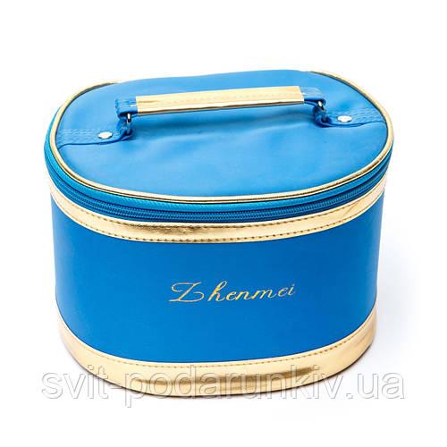 Оригинальные косметички дорожные бьюти кейс идеальные на море синие набор 3 шт