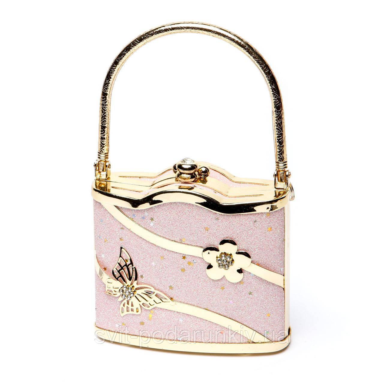 Розовая сумочка для денег и личных вещей S02