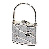 Маленькая дамская сумочка кошелек серебристая S02