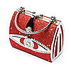 Вечерняя сумочка клатч красный S04, фото 2