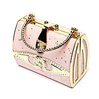 Необычная сумка-клатч розовая S04