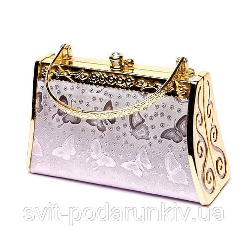 Фиолетовый женский клатч кошелек сумочка S06