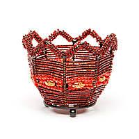 Декоративный подсвечник бисер PC-2 красный