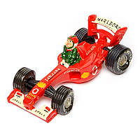 Копилка 3F8207 гонщик на ретро автомобиле формулы 1 Ferrari