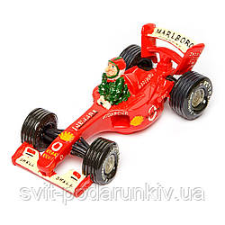 Копилка автогонщик на автомобиле формулы 1 Ferrari