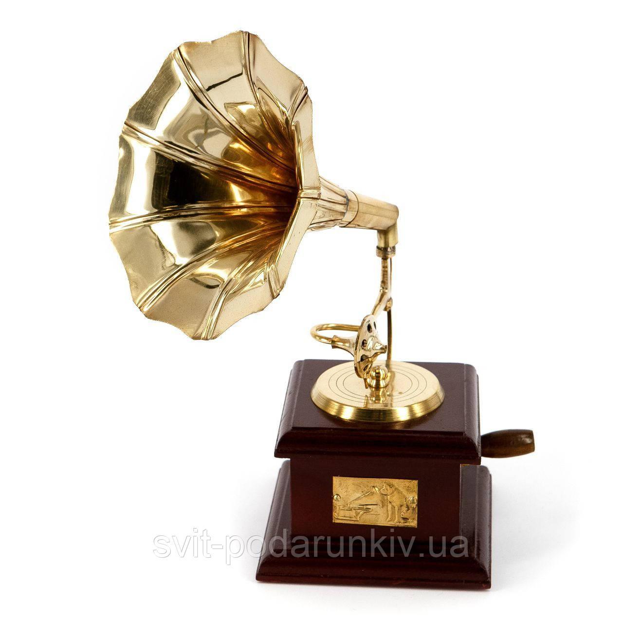 Сувенир мини золотой граммофон AF144M