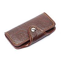 Ключница карманная из кожзаменителя №4-1 коричневая