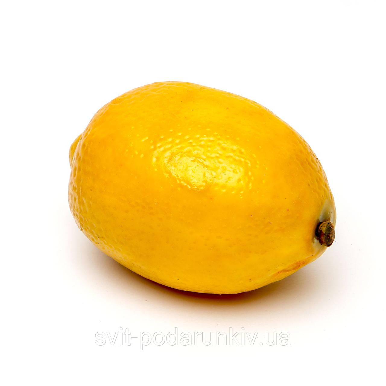 Искусственный фрукт муляж лимона
