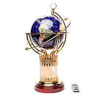 Глобус светящийся вращающийся из камня с пультом управления DS220T