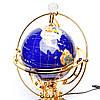 Вращающийся глобус с подсветкой из полудрагоценных камней BS220T, фото 2