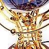 Вращающийся глобус с подсветкой из полудрагоценных камней BS220T, фото 3