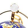 Вращающийся глобус с подсветкой из полудрагоценных камней BS220T, фото 4
