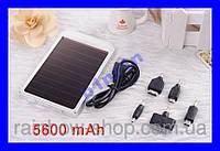 Power Bank 5600 mAH + солнечная панель - ЧЕРНЫЙ