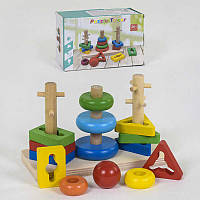 Деревянная игра Логическая пирамидка С 39372 72 - 219745