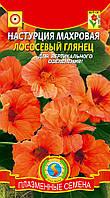 Семена цветов  Настурция махровая Лососевый глянец 9 шт персиковые (Плазменные семена)