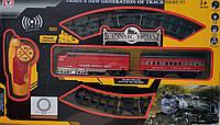 Детская игрушечная железная дорога поезд звук, свет прожектора на пульте управлении Classic 86см