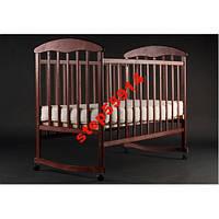 Детская кроватка Наталка - Ольха тёмная
