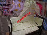 Детский постельный набор в кроватку из 7 предметов